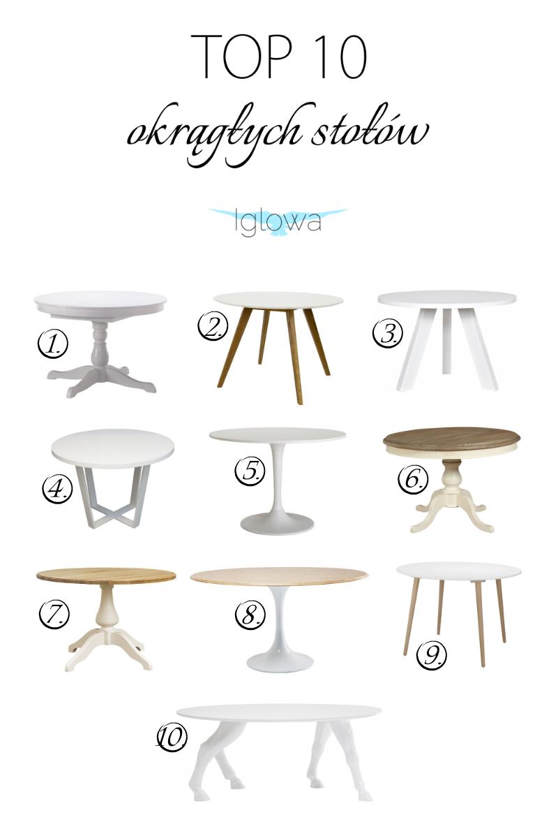 top 10 najładniejszych okrągłych stołów do jadalni