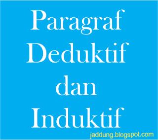 Pengertian dan Contoh Paragraf Deduktif dan Induktif
