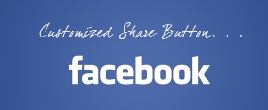 customize facebook share button