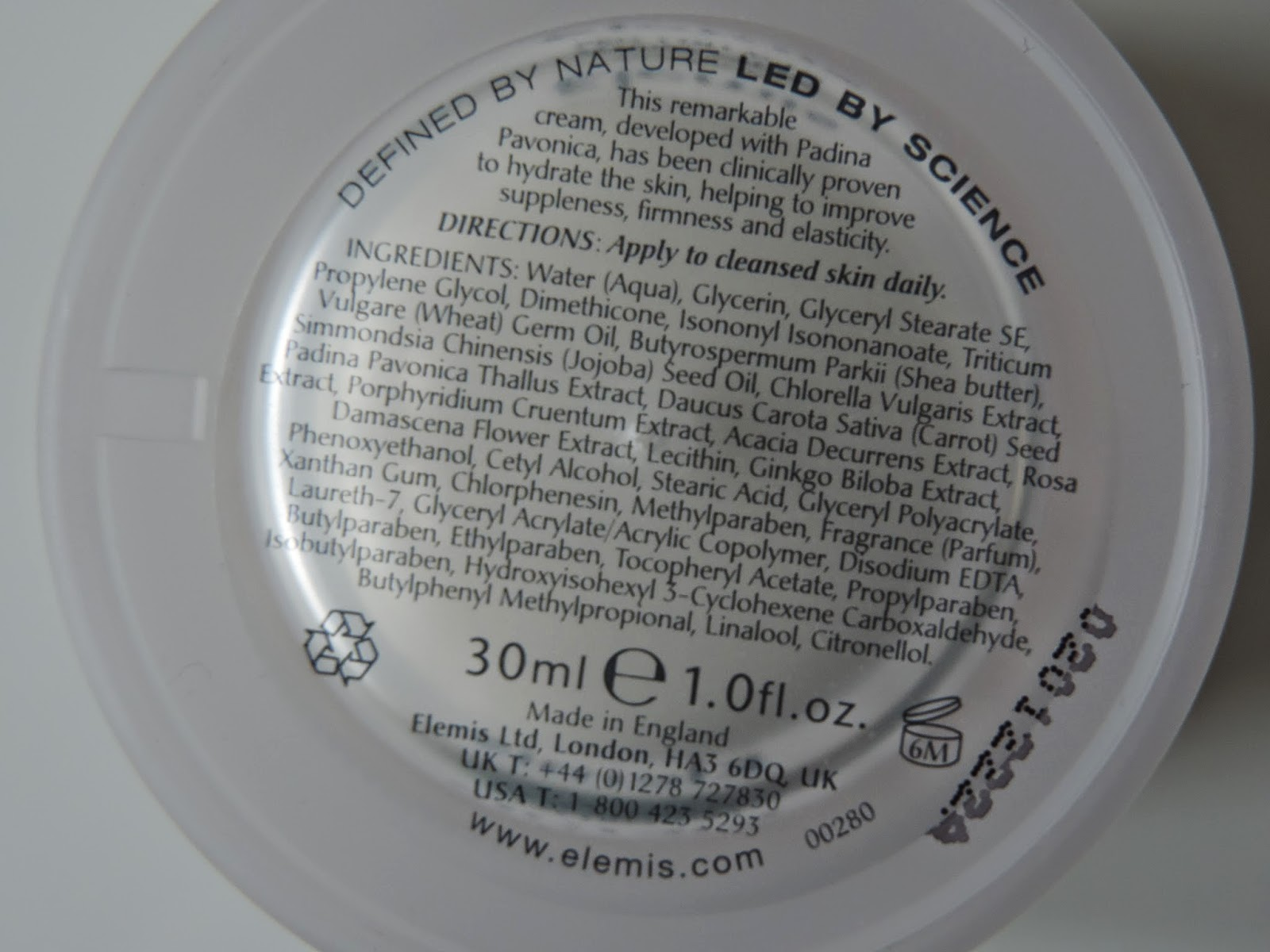 Elemis Pro Collagen Marine Cream Ingredients