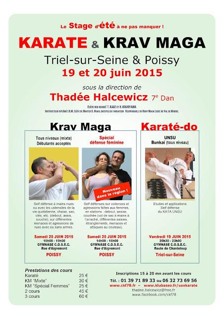 Stage d'été 2015 Karaté Krav Maga et Self Défense Féminine