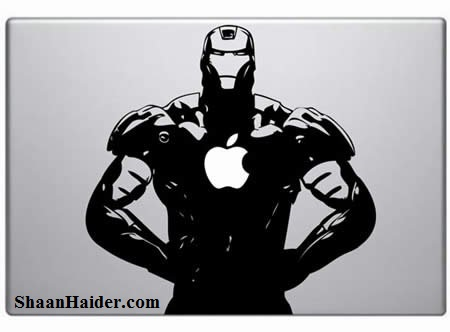 Iron man MacBook Stickers for Apple Lovers