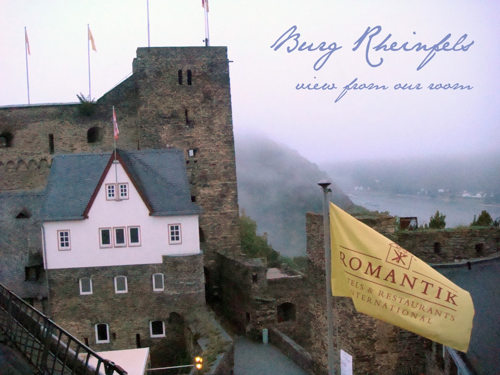 View from our room at Burg Rheinfels - The Tipsy Terrier blog