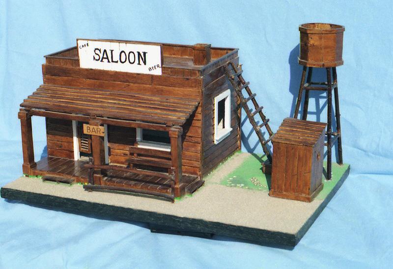 una casa del oeste concretamente un saloon me inspir en una