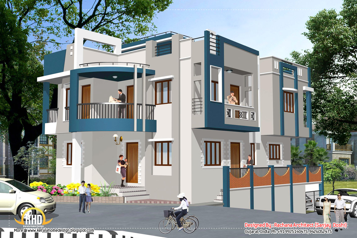 April 2012 kerala home design and floor plans Designer houses in india