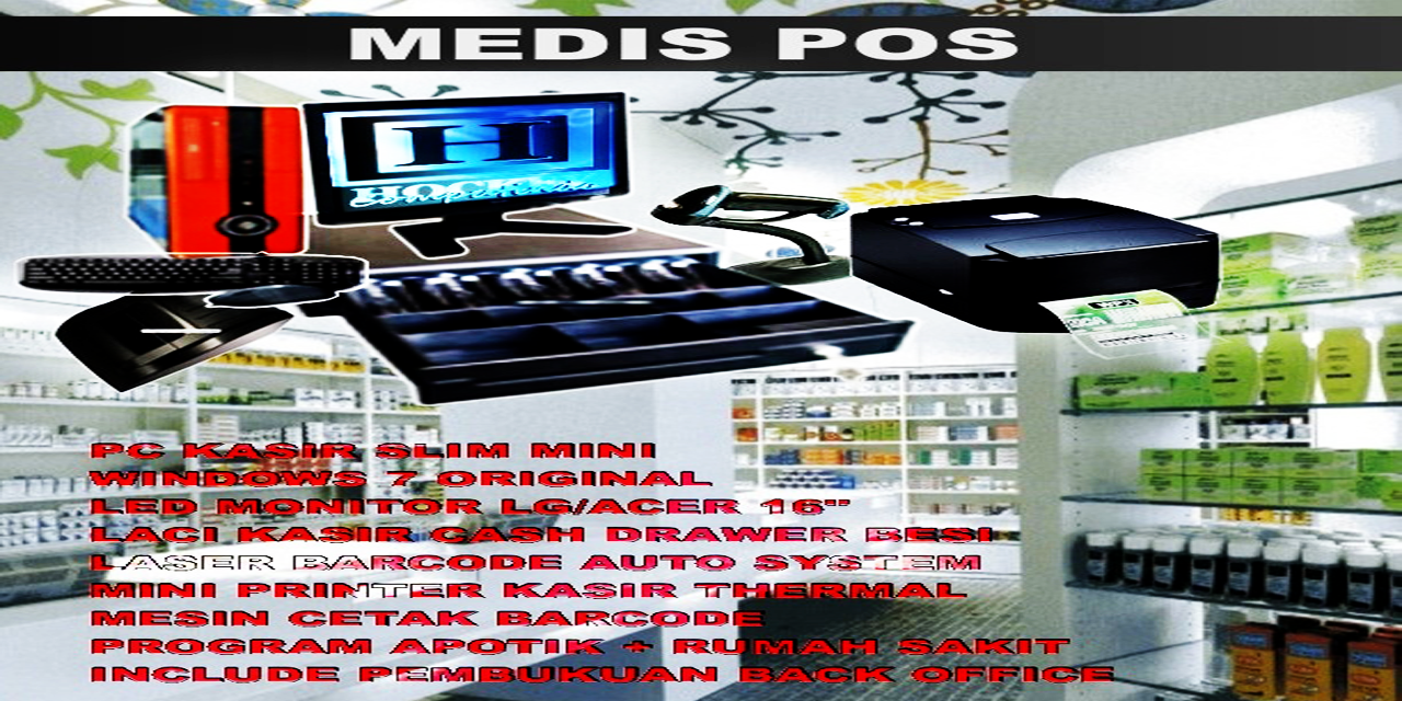 Mesin kasir apotik,sofwtare apotik,program apotik klinik