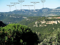 Panoràmica de l'entorn de Sant Martí de Centelles des del Turó del Montgrós