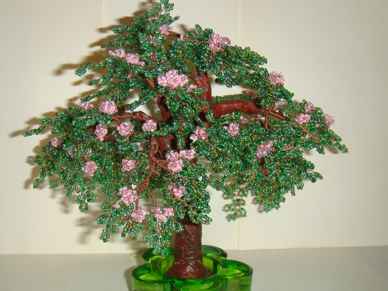 Заголовок сообщения: БОНСАИ, деревья, кустарники из бисера - МК, СХЕМЫ Оригинал этого мастер-класса Вы можете найти...