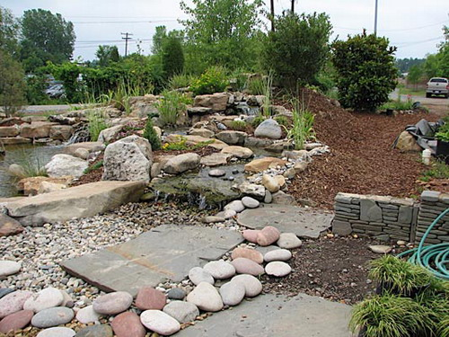 River Rock Flower Bed Designs Home Design Online