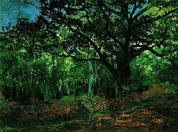 Клод Моне.  В лесу. Фонтенбло. Ок. 1866.