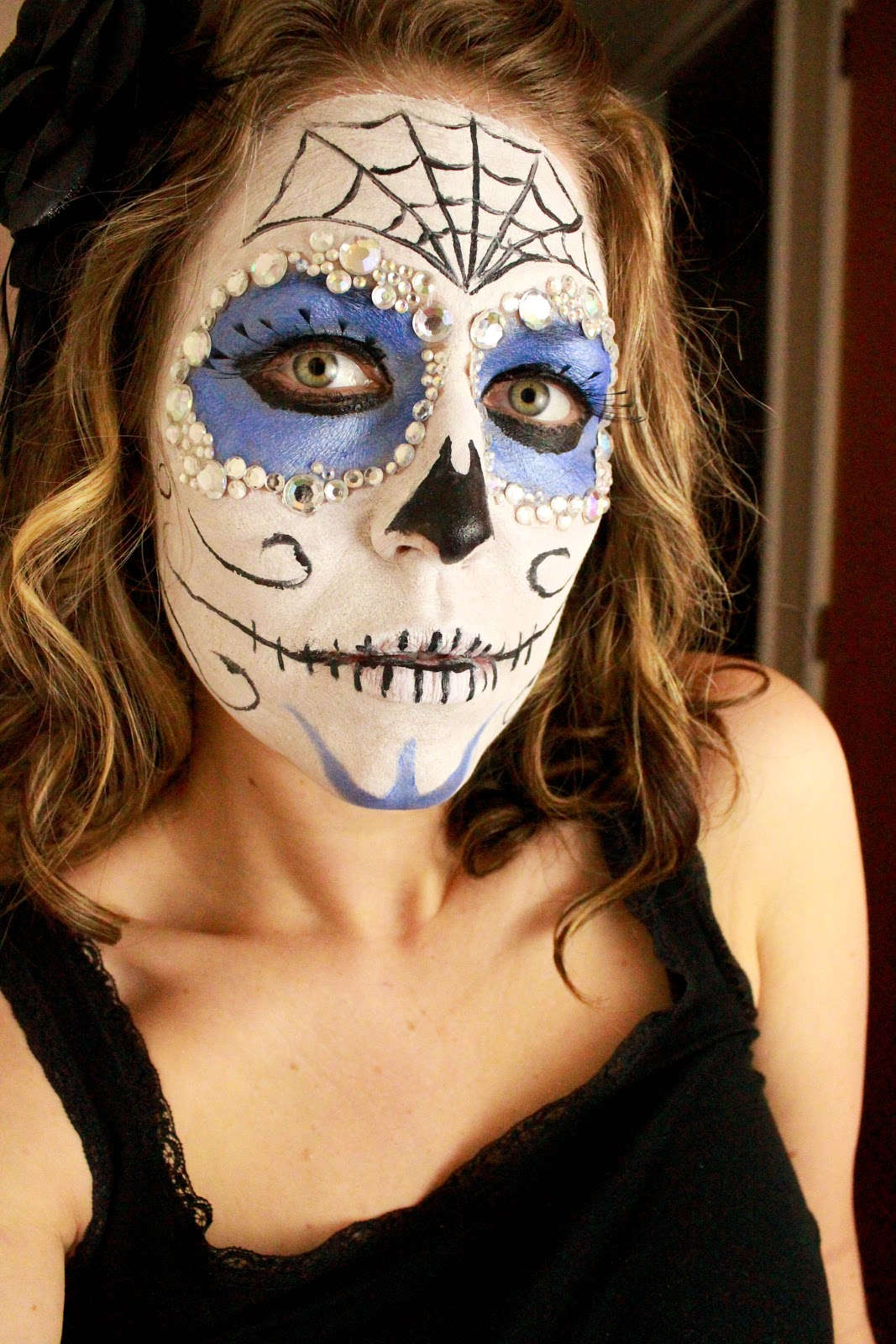 "Dia de Los Muertos"" Sugar Skull Face Paint Tutorial"