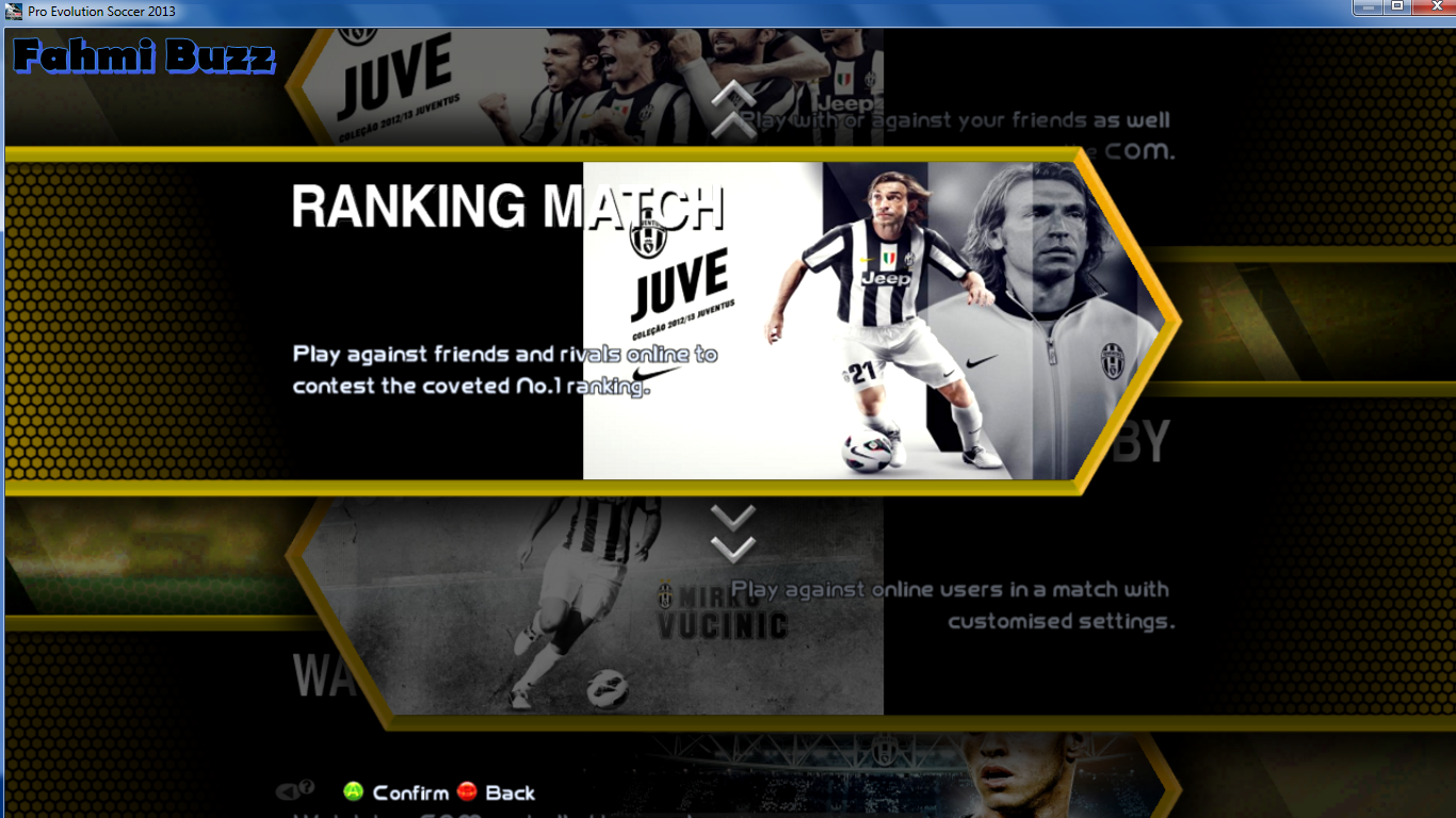 Download Sub Menu PES 2013 Barcelona,Juventus dan Bayern Munchen