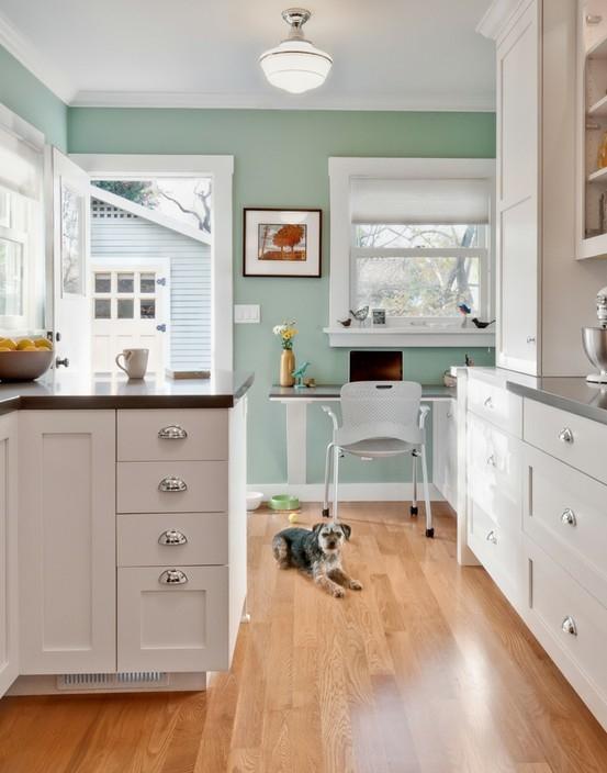 Benjamin Moore Edgecomb Gray Bungalow Home Staging Redesign