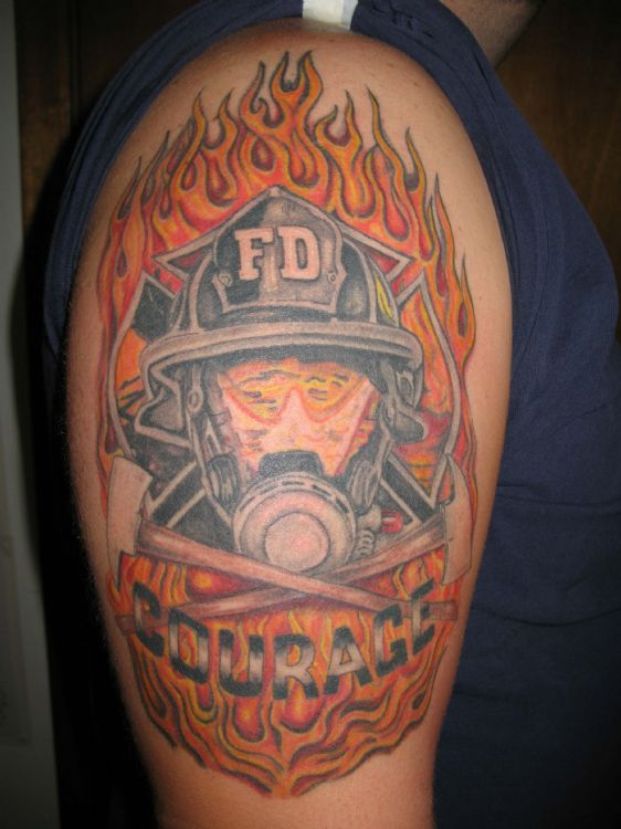 firefighter tattoos tattoos facebook. Black Bedroom Furniture Sets. Home Design Ideas