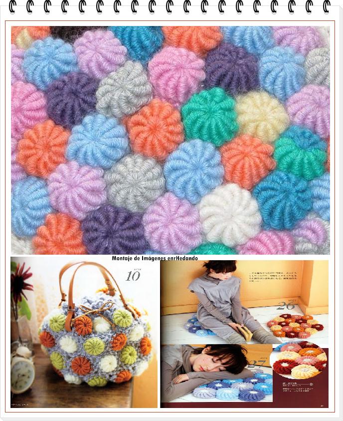 Como hacer bolas espirales de crochet enrhedando - Como hacer mantas de ganchillo ...