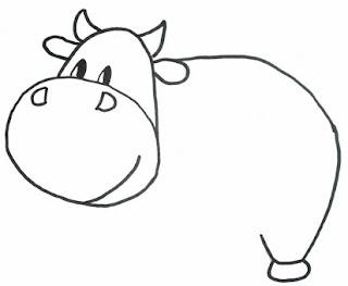 рисуем корову поэтапно