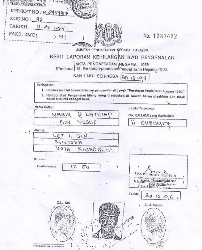 Skandal IC Projek Terbaru di Sabah?