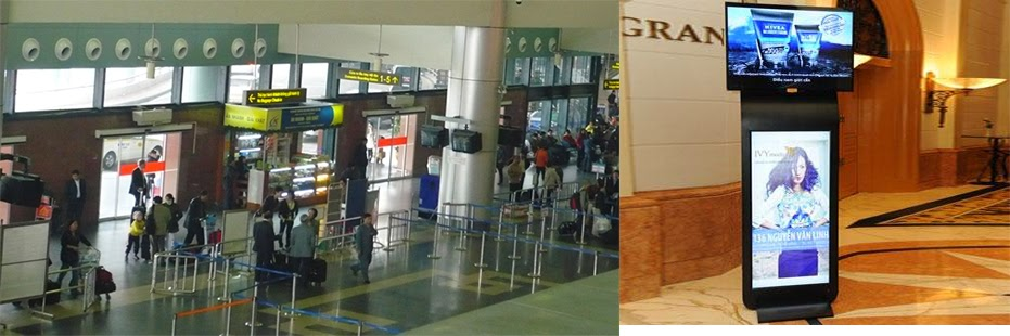 quảng cáo led board ở sân bay