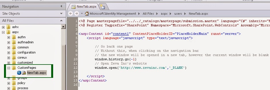 Open a FIM navigation bar in a new tab/window   FIM Creative Thoughts