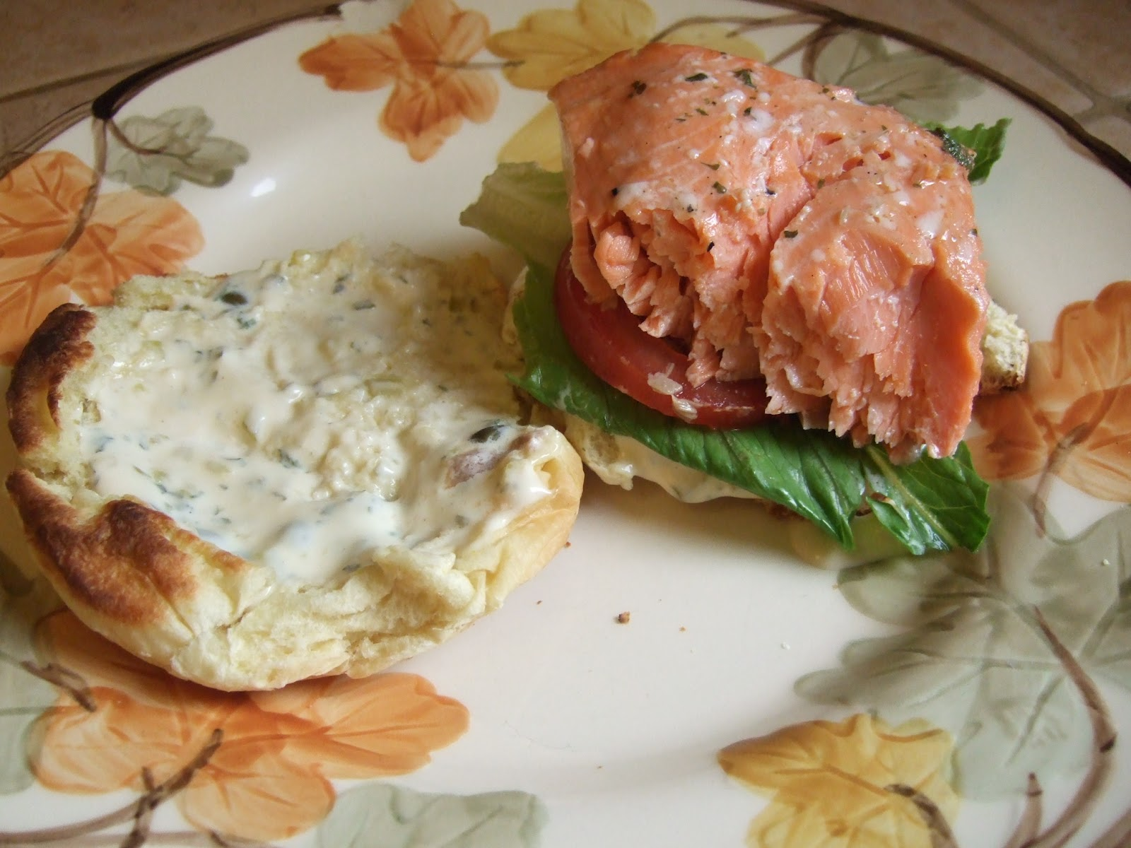 grilled up the fiddlehead s recipe for a grilled salmon sandwich ...