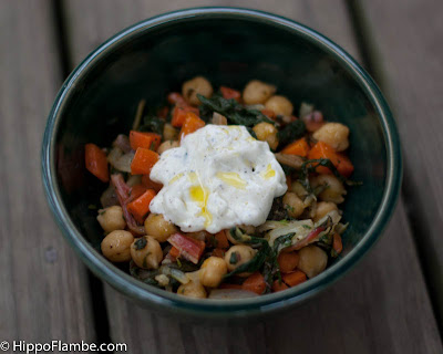 Hippo Flambé: Chickpeas with Chard and Caraway