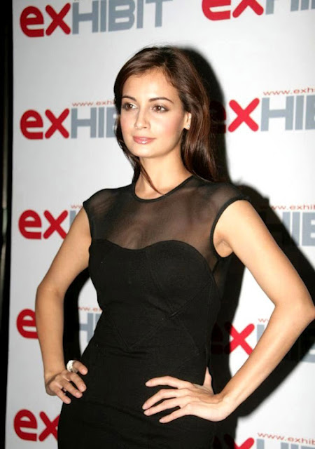 Diya Mirza in Cute Black Dress Photos  Wallpapers free