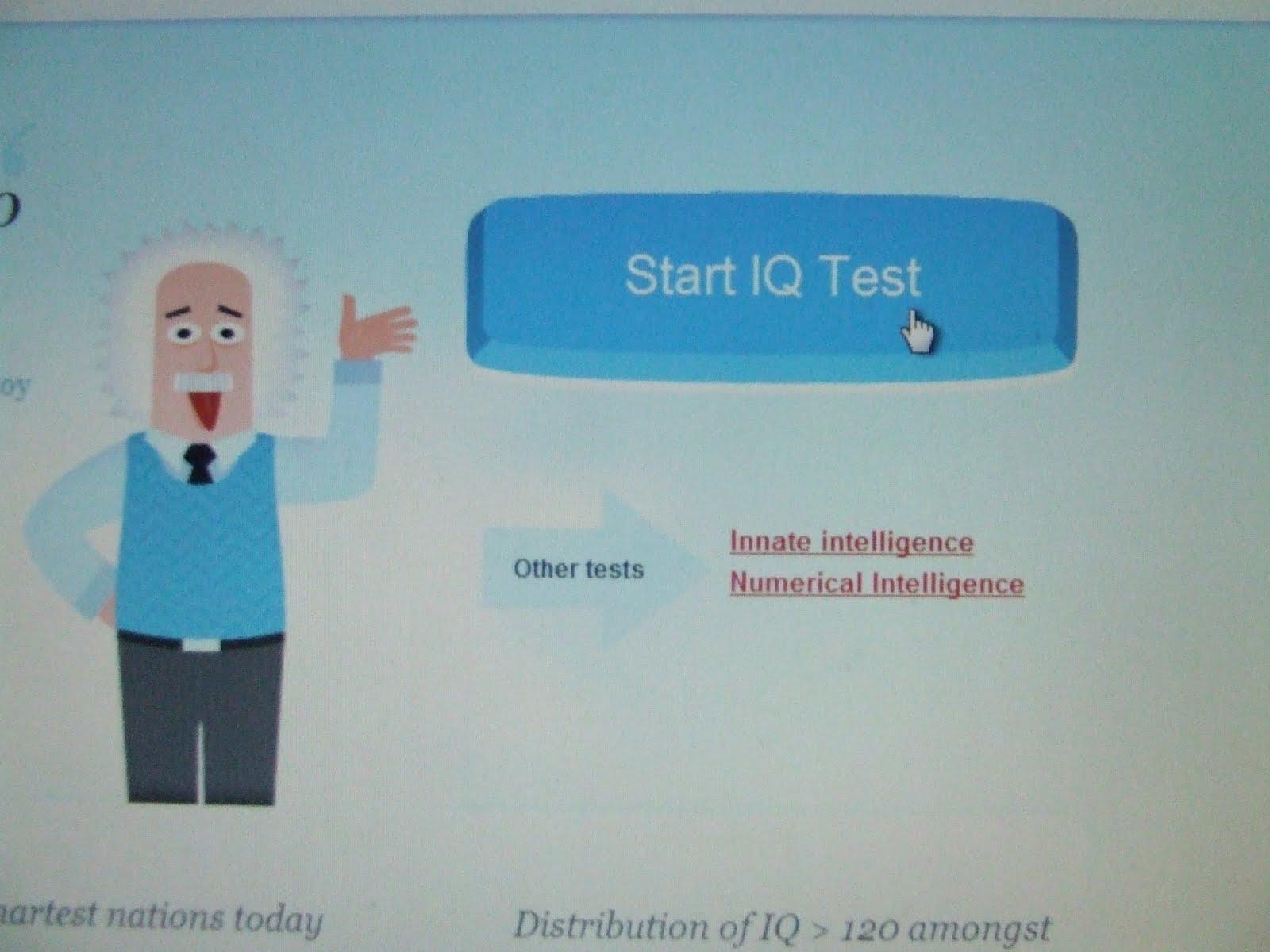 So I took an IQ test...?