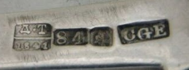 St. Petersburg 1841  silversmith Carl Gustav Ekqvist  assayer Dmitriì Ilbich Trevskoì