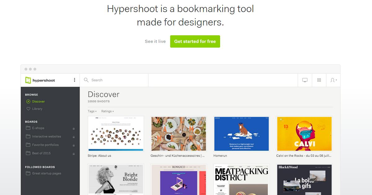 網頁設計師專用書籤: Hypershoot 拍下你的網站靈感