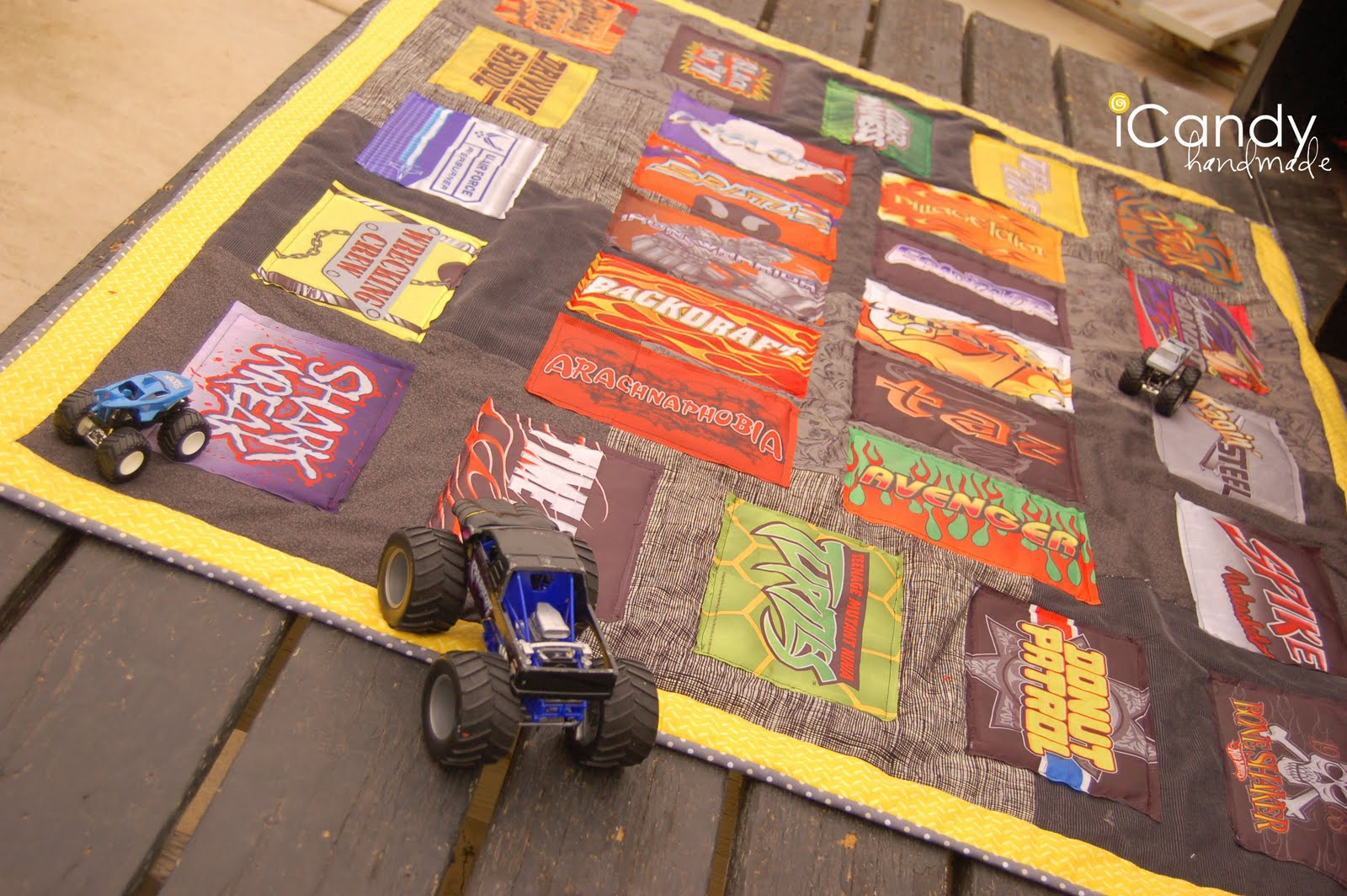Monster Truck Quilt - iCandy handmade : monster truck quilt - Adamdwight.com