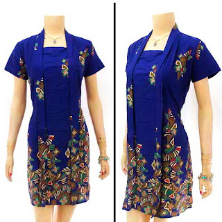 DB2898 - Mode Baju Dress Batik Modern Terbaru 2013