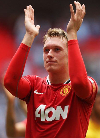 Phil Jones Manchester United v Manchester City Community Shield
