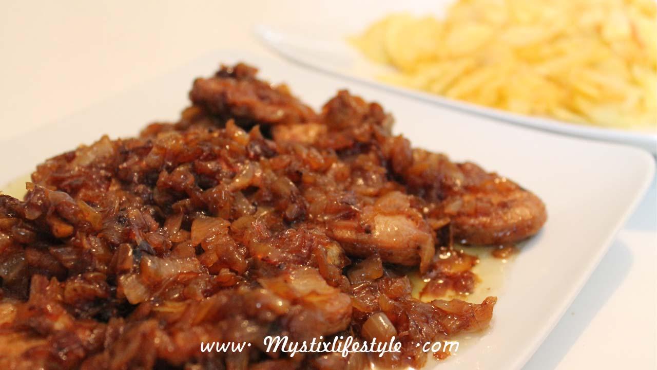 Receta solomillo de cerdo en salsa dulce mystix 39 s lifestyle - Solomillo de cerdo encebollado ...