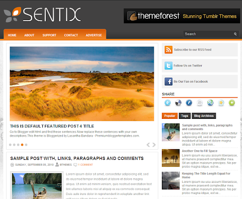 Sentix Blogger Theme