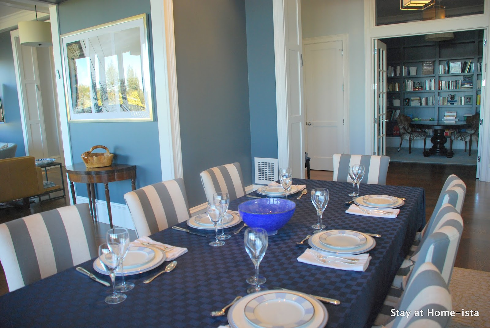 Stay at Home-ista: Charcoal Grey Dining Room