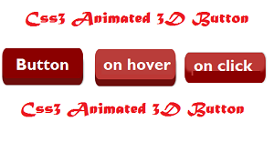 animated 3d css3 button