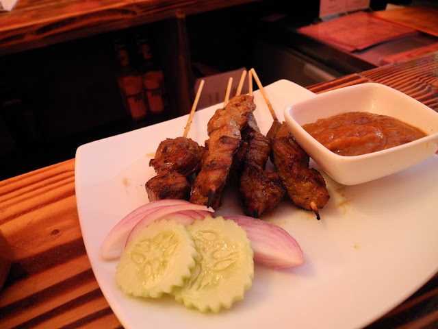 Satay and peanut sauce