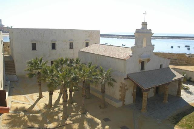 Interior del Castillo de Santa Catalina en Cádiz