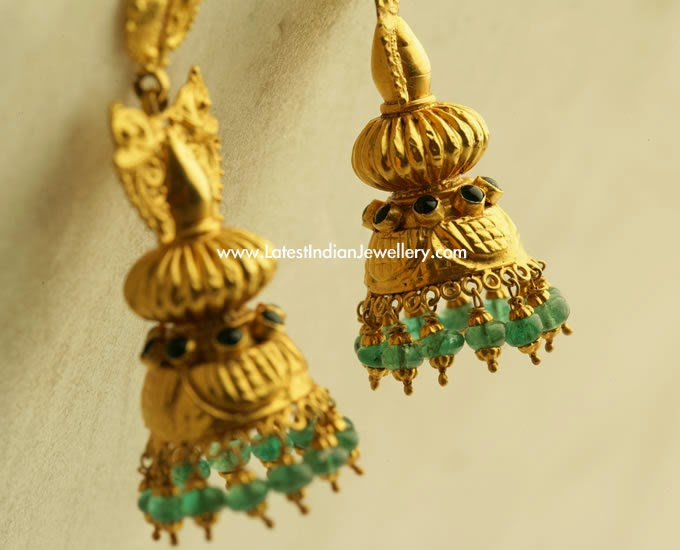 Latest Gold Jhumki Earring Designs