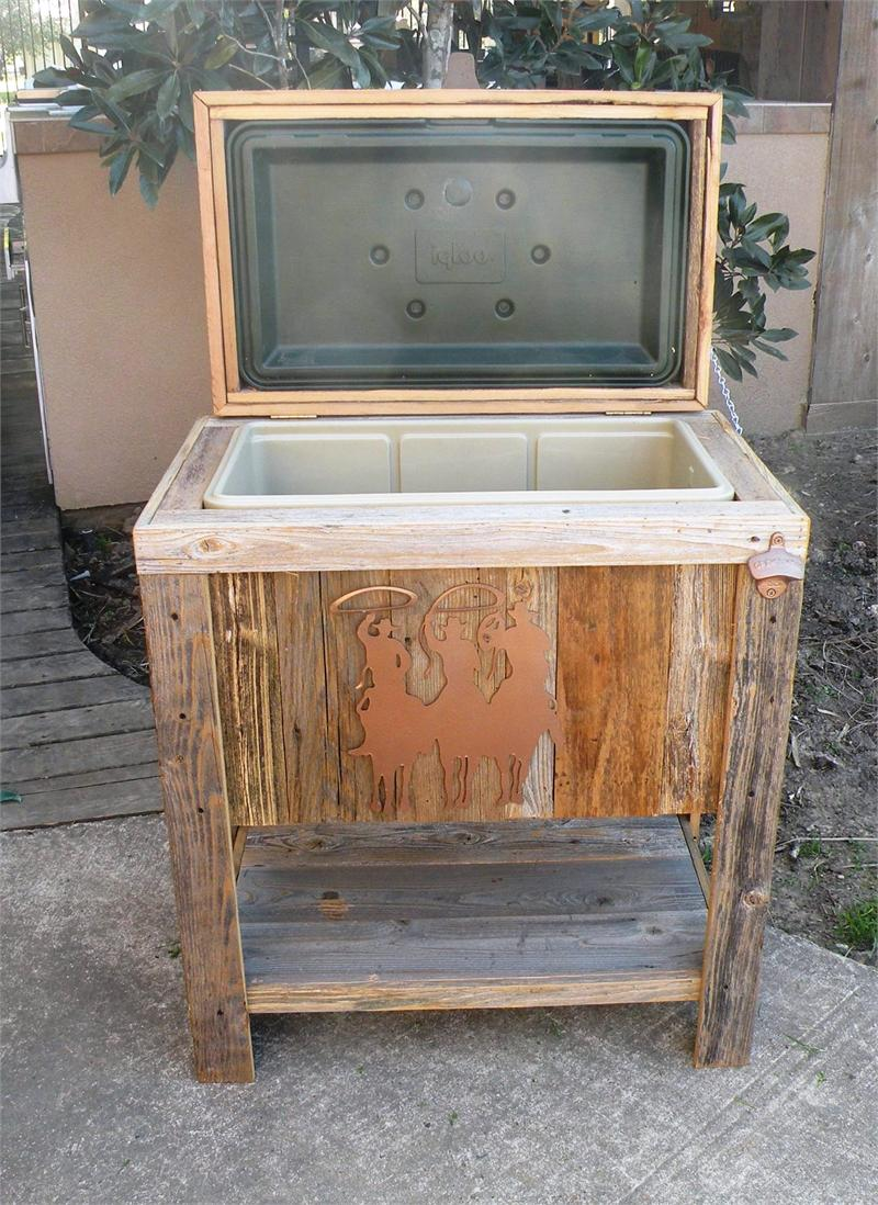 Wooden Ice Chest ~ Outdoor kitchen new hand made weathered wood