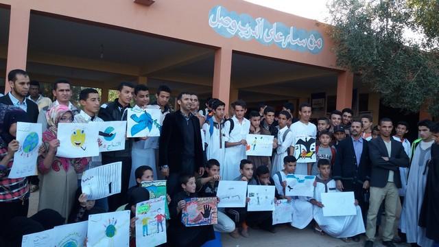 ثانوية محمد الجزولي – نيابة تيزنيت تخلّد اليومْ العَالمي لحقُوق الإنسانْ بتنْظيم أنشطَة فنيّة