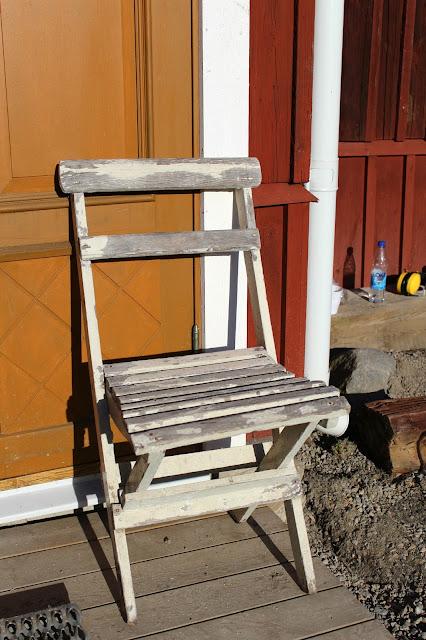 gammal trädgårdsstol