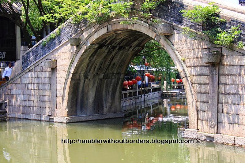 Arch bridge over Canal in Zhouzhuang, Jiangsu, China