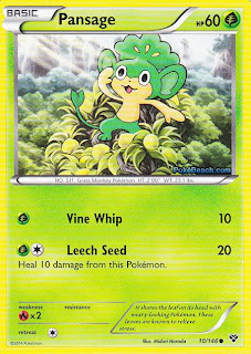Pansage Pokemon X and Y Card