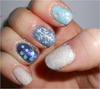 nail art novice 12 days of xmas nail art 2snow/winter