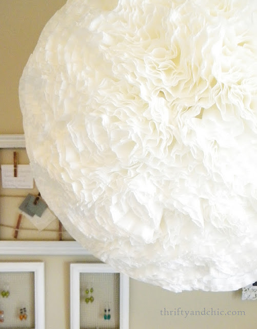 diy coffee filter light