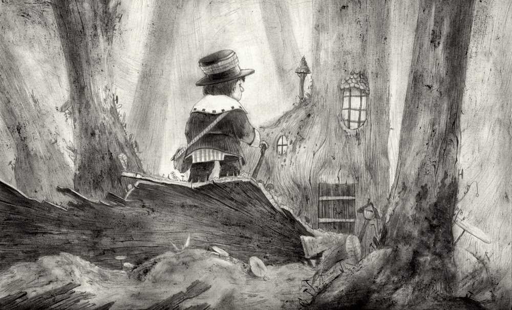 Illustration Retour a la Forêt par Gaetan Noir - Illustrateur