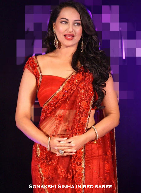 Sonakshi Sinha in heavy saree