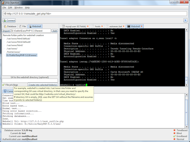 hack tube  jsql injection v0 4 java tool for automatic