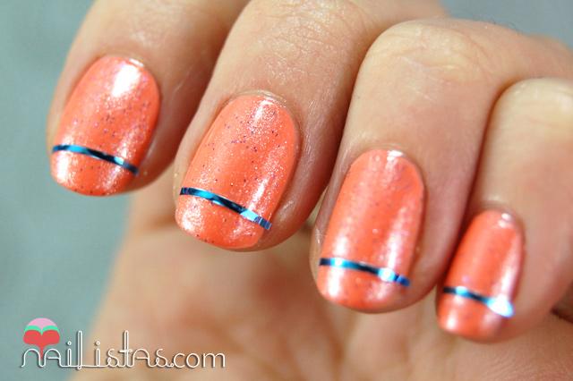 Ar Style Nail Art : U?as decoradas con cinta para nail art